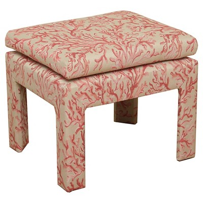 Upholstered Bench Pink u0026 Tan - HomePop  sc 1 st  Target & small upholstered stool : Target islam-shia.org
