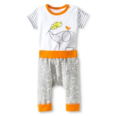 Boppy® Elephant 2 Piece Pants Set - NB Gray