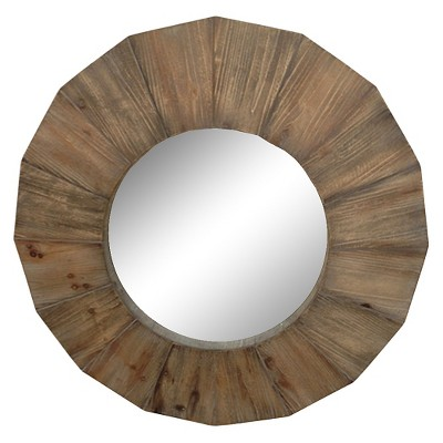 Round Wood Decorative Wall Mirror - Threshold™