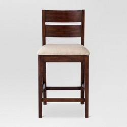 "Parsons Slat Back 24"" Counter Stool Linen Seat - Threshold™"