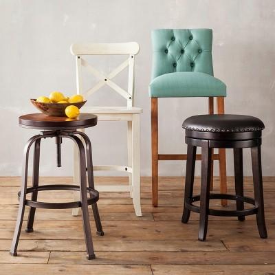 Parsons Slat Back 24  Counter Stool Linen Seat - Threshold™ & Parsons Slat Back 24