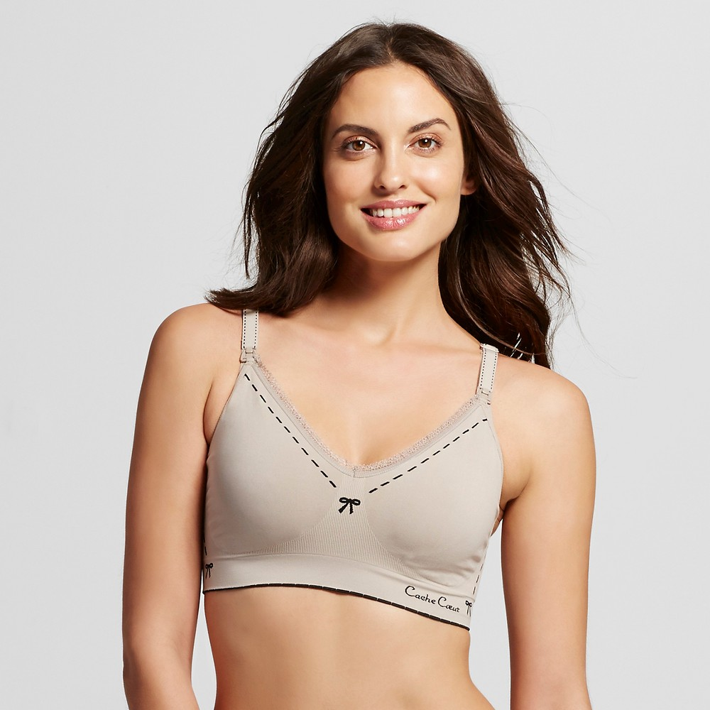 Cache Coeur Illusion Seamless Nursing Bra - Beige L, Womens