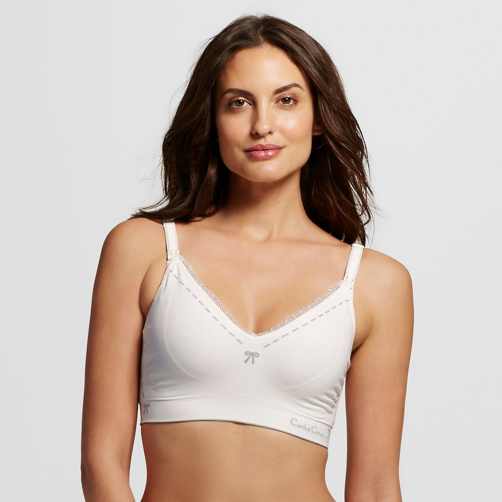 Cache Coeur Illusion Seamless Nursing Bra - Ivory S, Womens