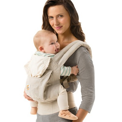 Ergobaby Original Ergonomic Multi-Position Natural Linen Baby Carrier - Beige
