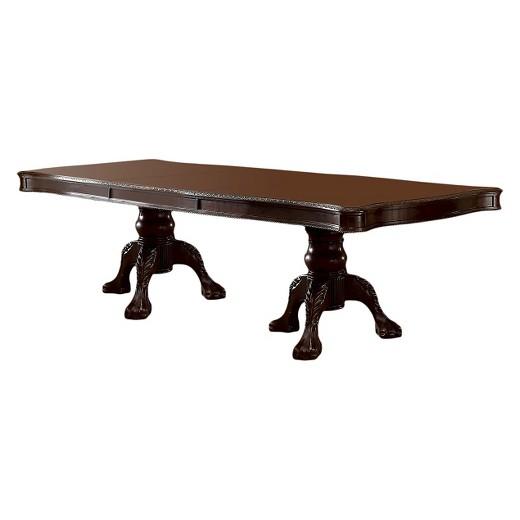 Sun & Pine Elegant Claw Feet Pedestal Dining Table in Antique ...