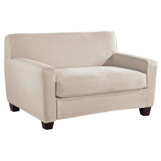 Stretch Fit Microsuede Loveseat Slipcover Serta Target