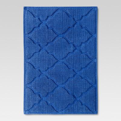 Botanic Bath Mat Blue - Threshold™