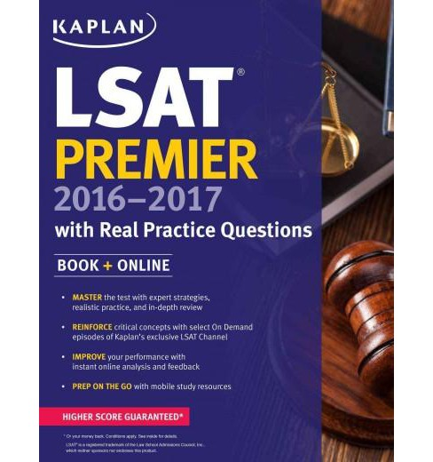 Kaplan LSAT Premier 2016-2017 + Online : With Real Practice Questions (Paperback) - image 1 of 1