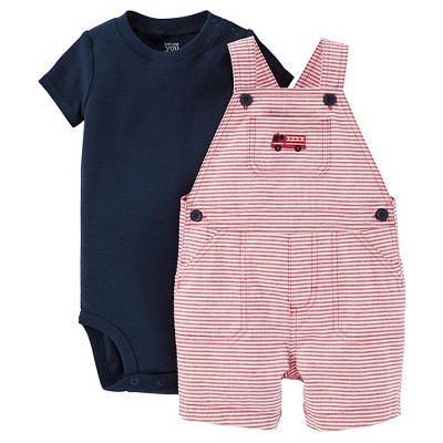 Just One You™ Made by Carter's® Baby Boys' Fire Engine Shortall - Red/Navy 9M