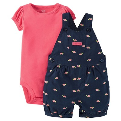 Just One You™ Made by Carter's® Baby Girls' Watermelon Turtle Shortall - Navy 3M