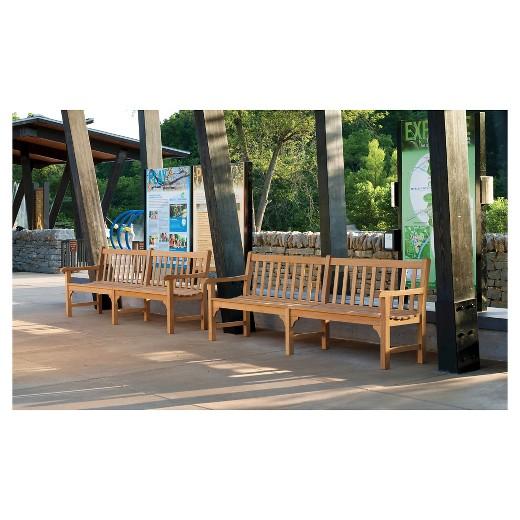 oxford garden essex bench 96 natural shorea