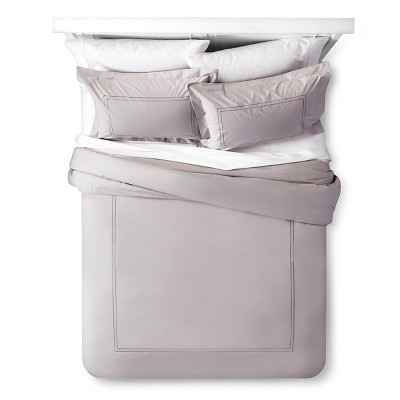 Classic Hotel Comforter Set (King)Gray 3pc - Fieldcrest™