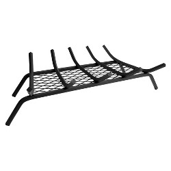 """Pleasant Hearth 1.5"""" Steel Grate 2"""", 5 bar with Ember Retainer - Black"""