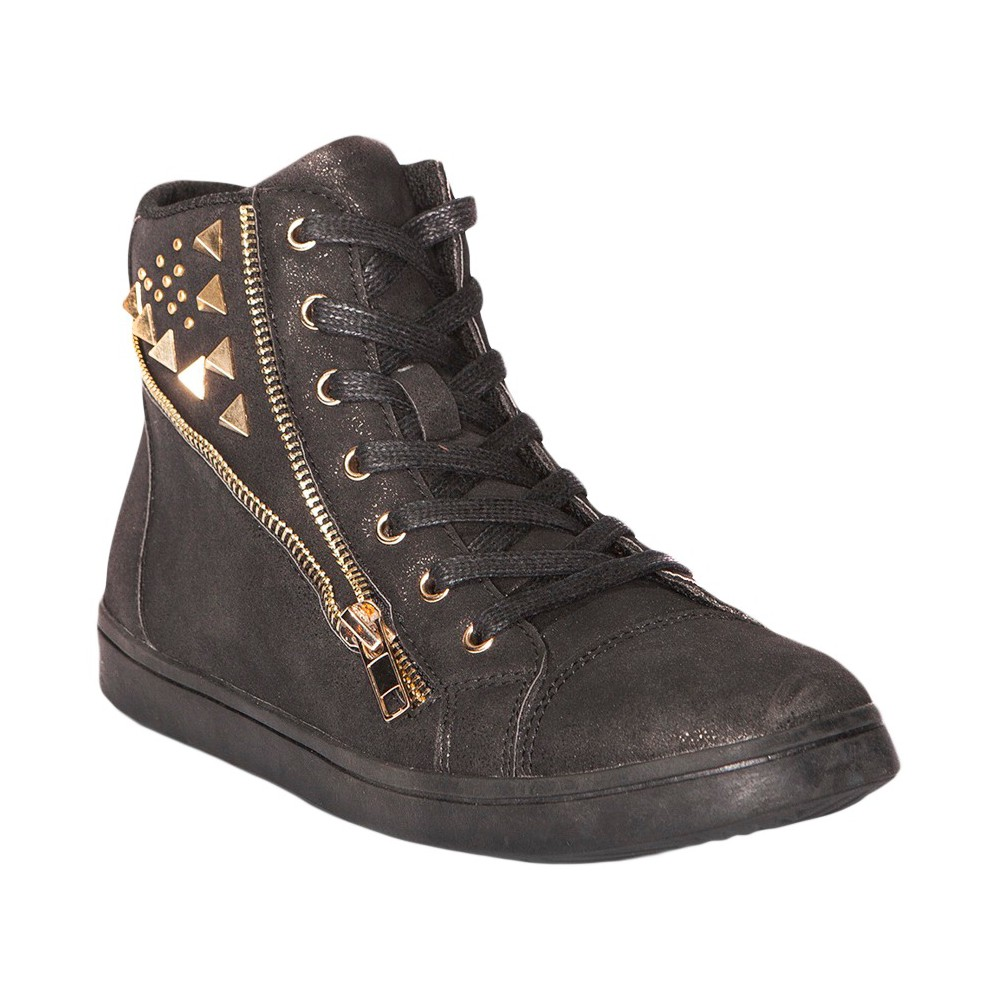 Womens Gia-Mia Avant Studded High Top Sneakers - Black 6