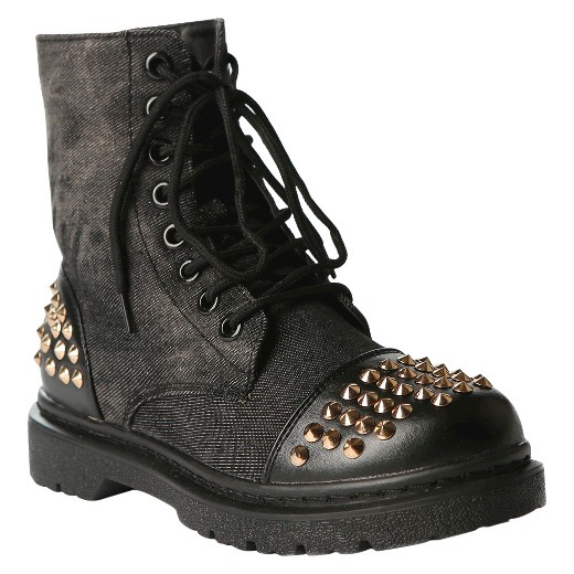 Women's Gia-Mia Rock Star Studded Combat Boots : Target