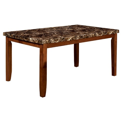 Iohomes Faux Marble Table Top Dining Wood Antique Oak