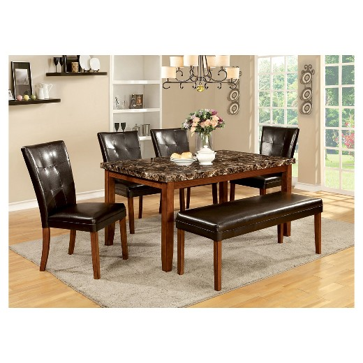 iohomes faux marble table top dining table wood antique