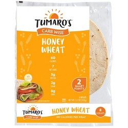 Tumaro's™ Low Carb Honey Wheat Tortillas - 8-inch