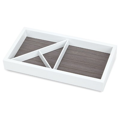 Loft by Umbra Rectangular Wooden Jewelry Tray WhiteGray Target