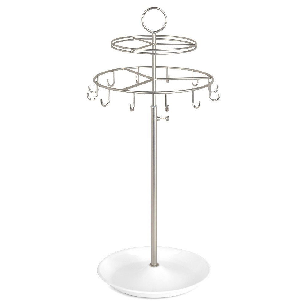 Loft by Umbra Spinner Jewelry Stand – Nickel, White