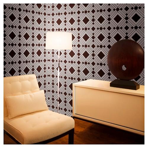 Tempaper Self-Adhesive Removable Wallpaper Diamond - Chocolate, Chocolate Heather