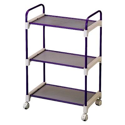 Ore International 3 Tier Utility Cart - Lavender
