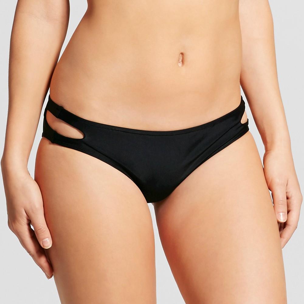 Womens Strappy Bikini Bottom Black L - Fashion Union