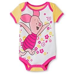 Baby Girls' Disney Piglet Bodysuit - Yellow