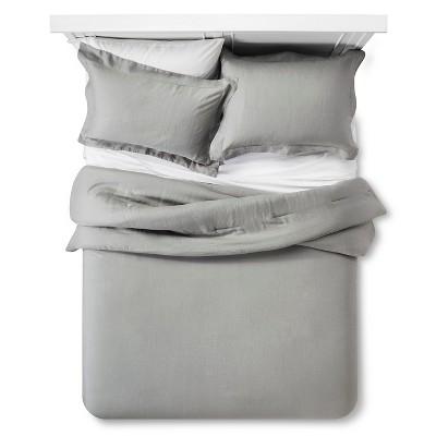 Linen Comforter & Sham Set (Full/Queen)Gray 3pc - Fieldcrest™