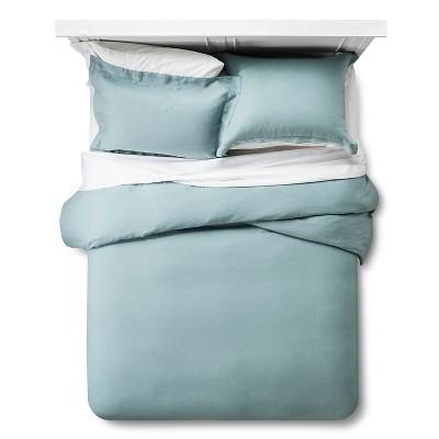 Linen Comforter & Sham Set (King)Aqua 3pc - Fieldcrest™
