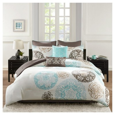 Medallion Kali Bed Set (Queen)Teal - 8pc