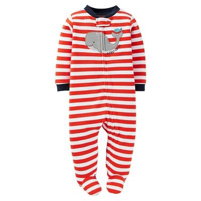 Just One You™Made by Carter's® Newborn Boys' Sleep N Play - Orange/White Stripe NB