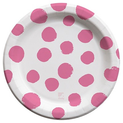 Cheeky 10\  Paper Plates - designlovefest for Cheeky Hot Pink Polka Dot (30 ct)  sc 1 st  Target & Cheeky 10\