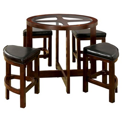 MiBasics 5pc Glass Table Top Circle Dining ...
