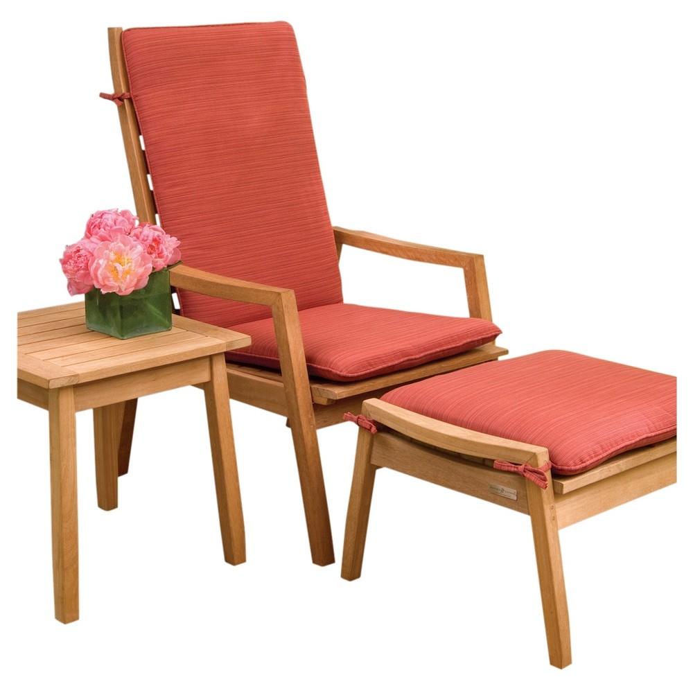 Siena 3pc Seating Set with Cushions - Oxford Garden, Dupione Papaya Cushions