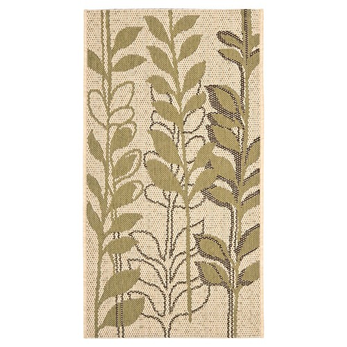 Ivey Rectangle 2'7 X 5' Outdoor Patio Rug - Natural Brown / Olive - Safavieh, Green