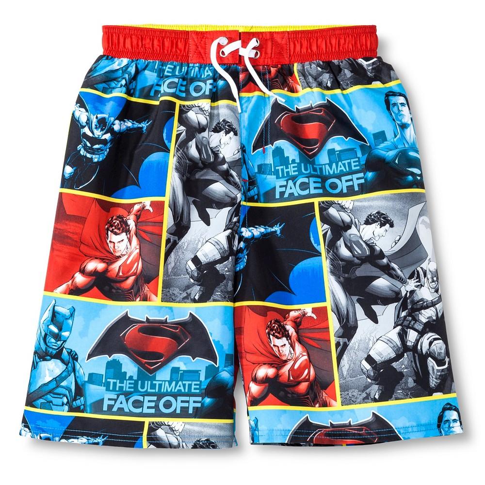 Boys Batman vs. Superman Swim Trunk - XS, Multicolored
