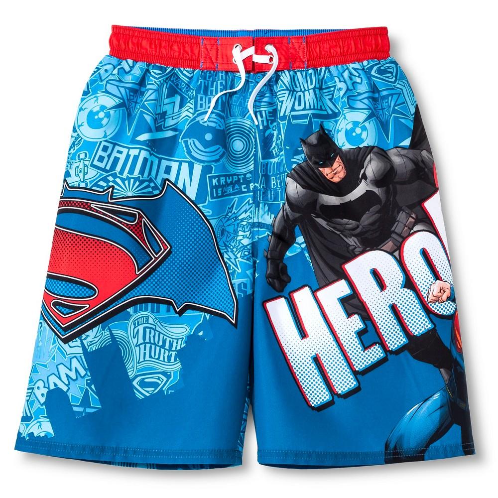 Boys Batman vs. Superman Swim Trunk - L, Multicolored