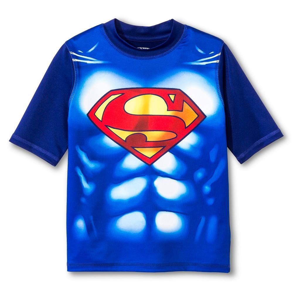 Boys Superman Muscle Rashguard - Royal L, Blue