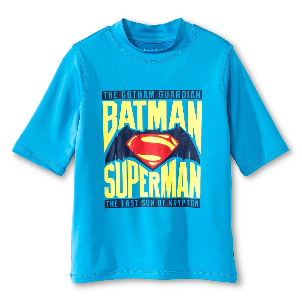 Boys Batman vs. Superman Rashguard - Turquoise L, Blue