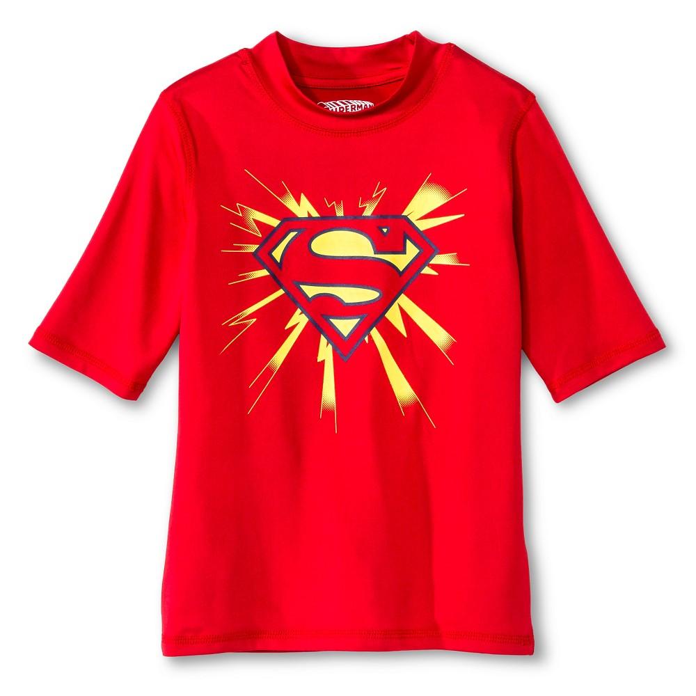 Boys Superman Rashguard - Red L