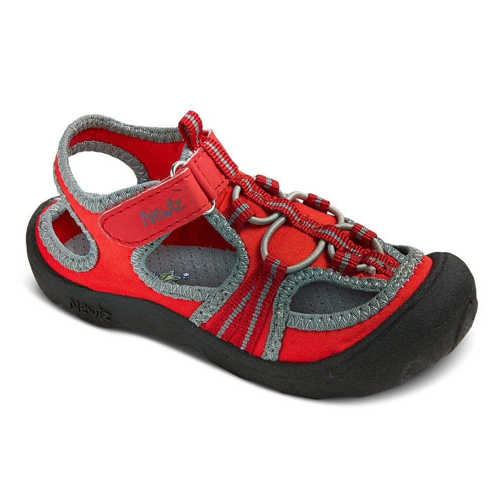 Toddler Boys Newtz Open Water Shoe - Red 11-12, Gray Red