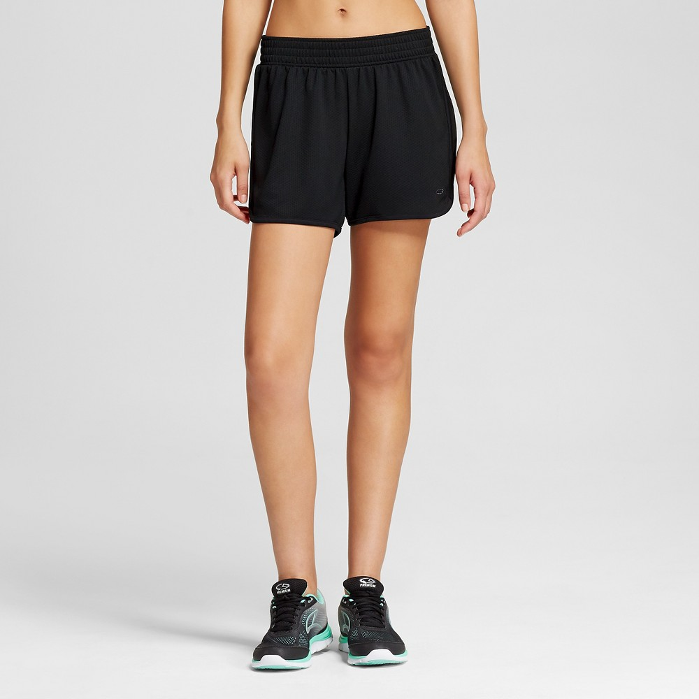 Womens Sport Shorts - Black L - C9 Champion