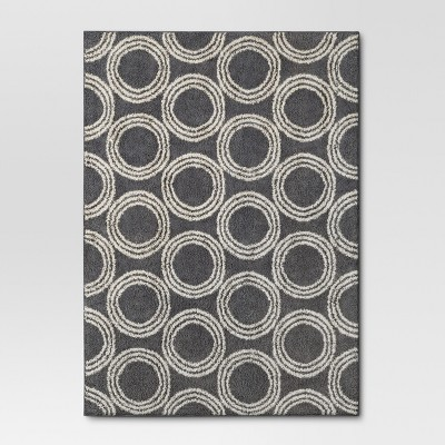 Gray Shag Circles Area Rug 5'x7' - Project 62™