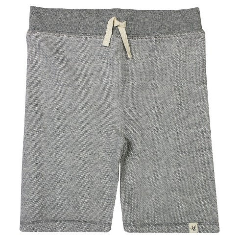 Burt's Bees Baby™ Baby Boys' Loose Pique Shorts Heather - Gray - image 1 of 1
