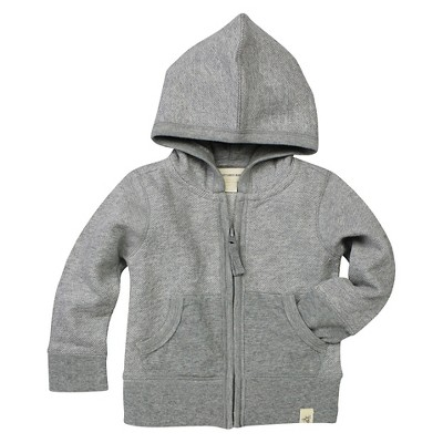 Burt's Bees Baby™ Baby Boys' Loose Pique Hoodie - Heather Gray 3-6 M