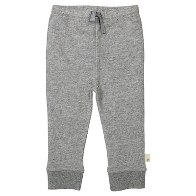 Burt's Bees Baby™ Baby Boys' Loose Pique Pants - Heather Gray 3-6 M