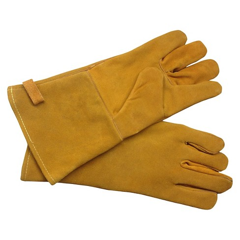 Pleasant Hearth Fireplace Gloves-Brown - image 1 of 1
