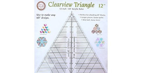 Clearview Triangle 12 Inch - 60 Degree Acrylic Ruler : Perfect for Checking 60 Degree Blocks - Larger - image 1 of 1