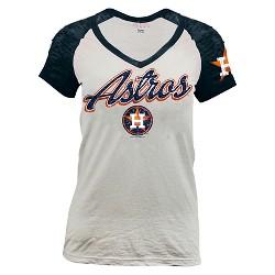 Houston Astros Women's Burnout Raglan T-Shirt